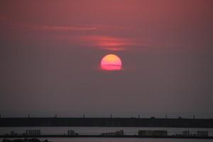 柏崎の夕日