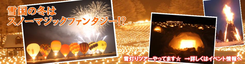 雪国だから! 新潟の雪まつり&雪灯りイベント!