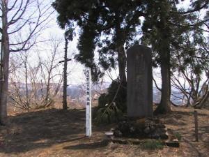 朝日山古戦場の碑