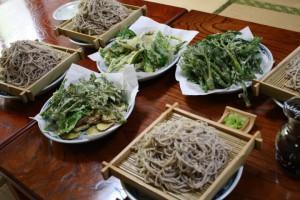 山菜天ぷらそばの集い @ 小千谷ふるさとの丘ユースホステル