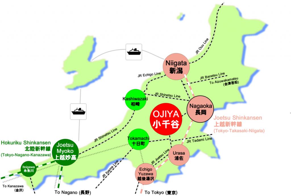 Niigata Prefecture Railway Route Map
