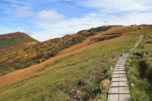 171005-1311山頂-前岳の木道