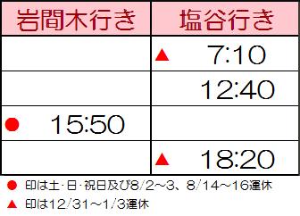 小千谷駅角バス停・時刻表